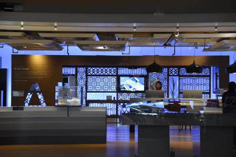 Microsoft Visitor Center op het Hoofdkwartier in Redmond, Washington stock foto