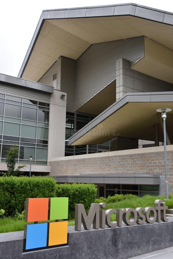 Microsoft Visitor Center op het Hoofdkwartier in Redmond, Washington stock afbeeldingen