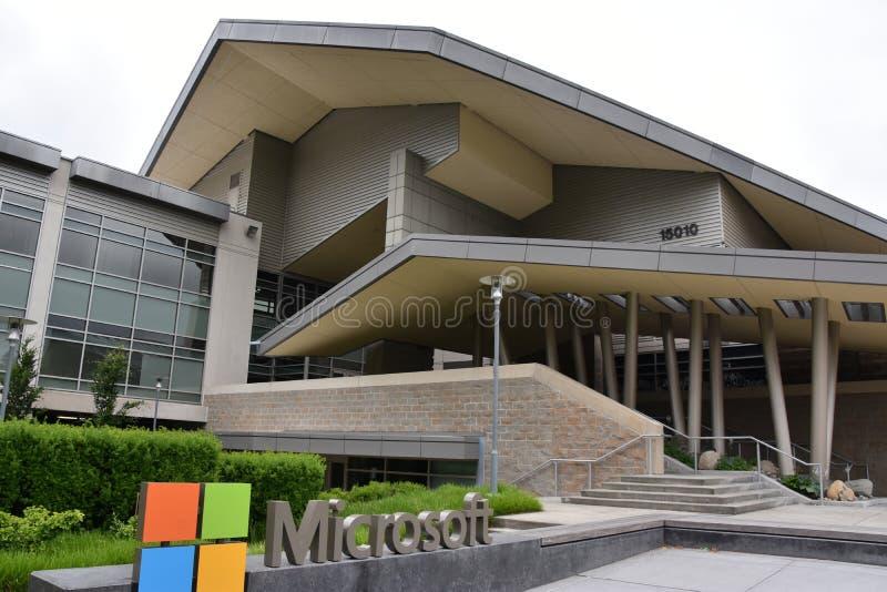 Microsoft Visitor Center w siedzibie głównej w Redmond, Waszyngton obraz royalty free