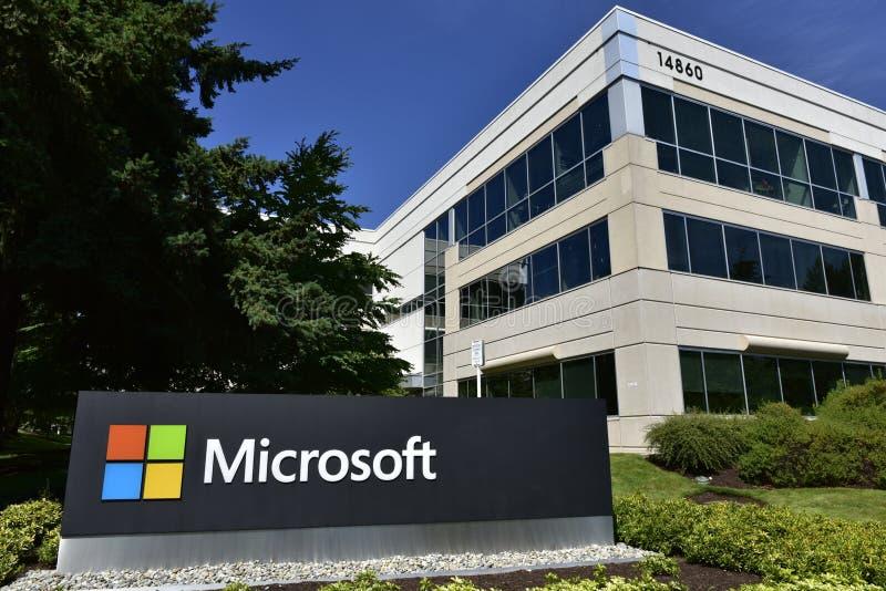 Microsoft-Westcampus, Bellevue, Zustand Washington, USA lizenzfreie stockfotografie