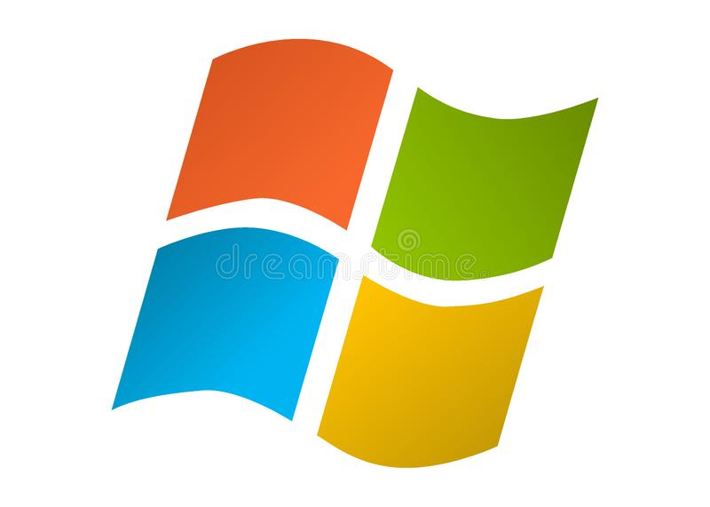 Microsoft Windows color? d'isolement sur un fond blanc illustration libre de droits