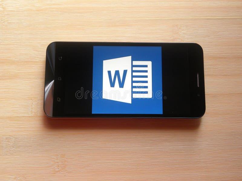 Microsoft Word app fotografia stock libera da diritti