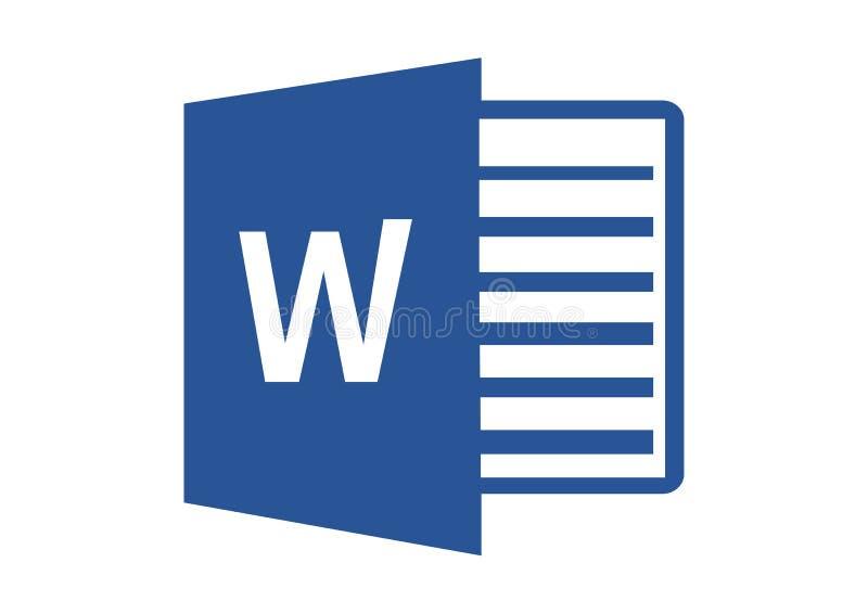 Microsoft Word 2013 logo ilustracji