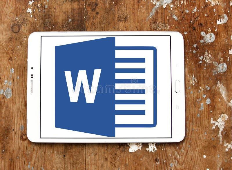 Microsoft Word logo royaltyfri bild