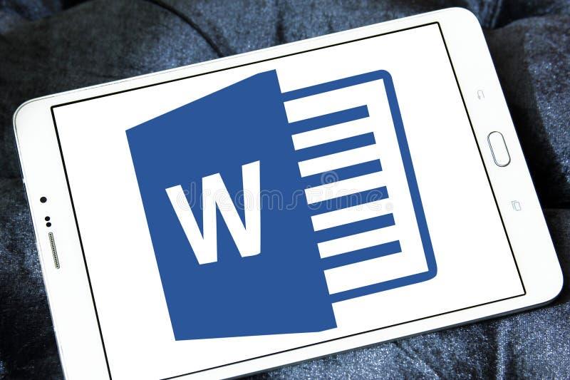 Microsoft Word logo royaltyfria foton
