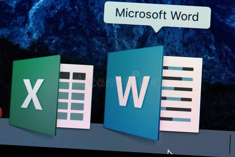 Microsoft Word-toepassingspictogram royalty-vrije stock foto