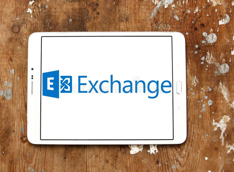 Microsoft wymiany serweru logo zdjęcia royalty free