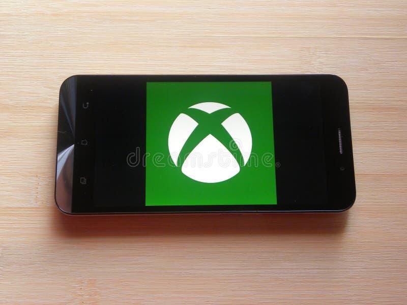 Microsoft Xbox app royalty-vrije stock foto