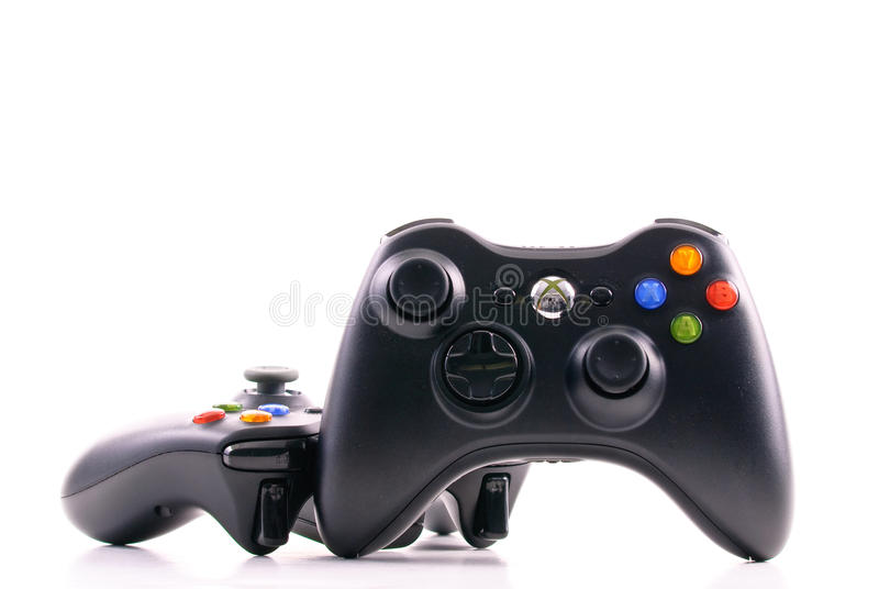 Microsoft xbox Game Controller royalty free stock images