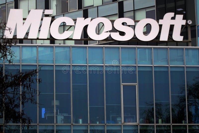 Microsofts Hauptsitze in Bukarest, Rumänien stockfotografie
