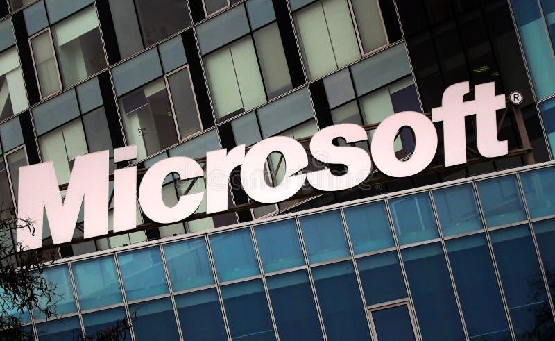 Microsofts Hauptsitze in Bukarest, Rumänien stockbild