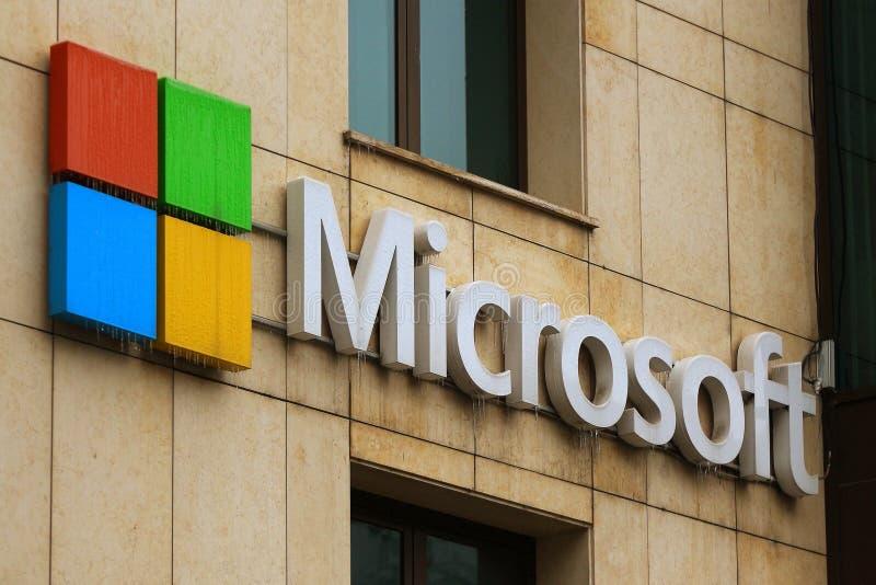 Microsofts Hauptsitze in Bukarest, Rumänien lizenzfreies stockfoto