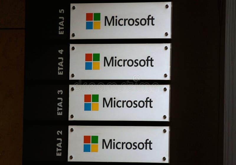 Microsofts Hauptsitze in Bukarest, Rumänien lizenzfreie stockbilder