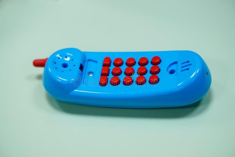 microteléfono del juguete imagenes de archivo