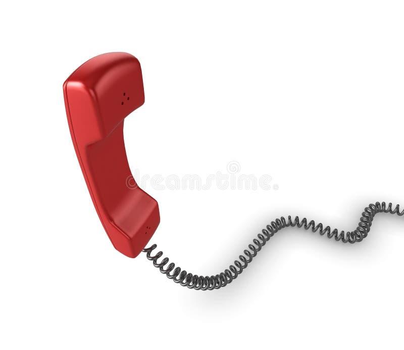 Microteléfono rojo del teléfono stock de ilustración