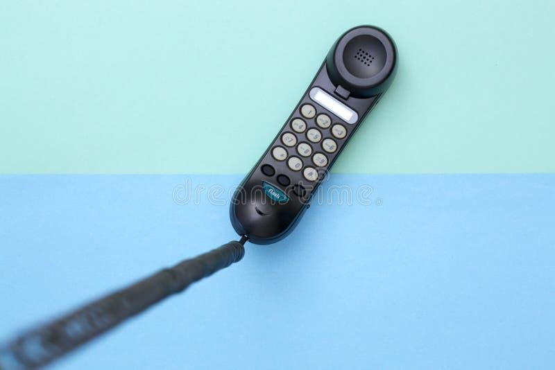 Microtelefono e telefono fisso con la composizione di tono immagini stock libere da diritti