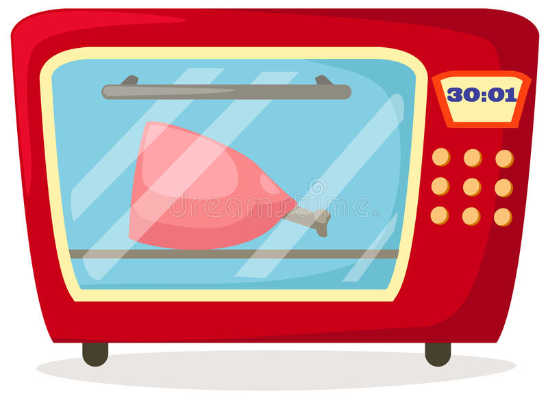 Microwave stock illustration