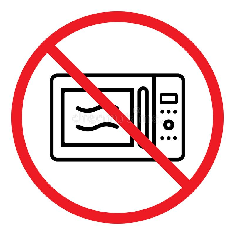 Microwave forbidden icon royalty free illustration