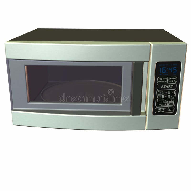 Microwave Oven. 3 D Computer Render of an Microwave Oven