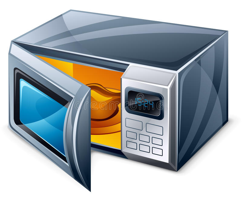 Microwave oven royalty free illustration