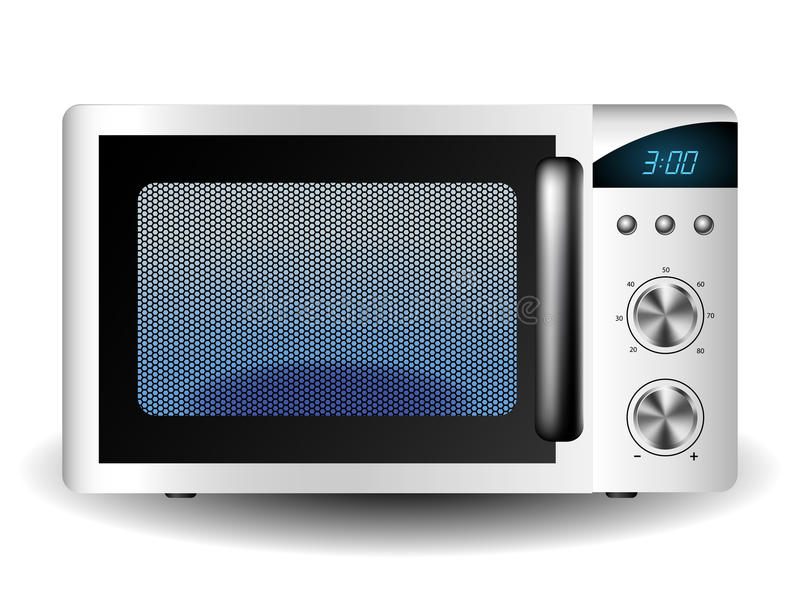 Microwave oven vector illustration
