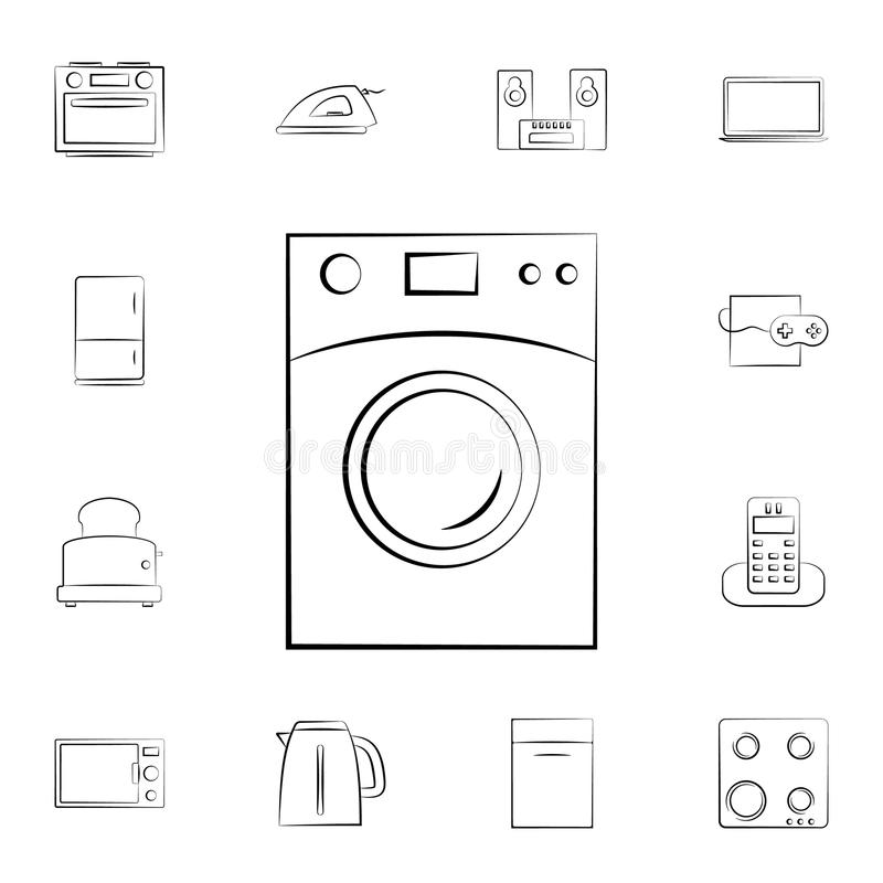 microwave oven icon. Detailed set of home appliances. Premium graphic design. One of the collection icons for websites, web design stock illustration
