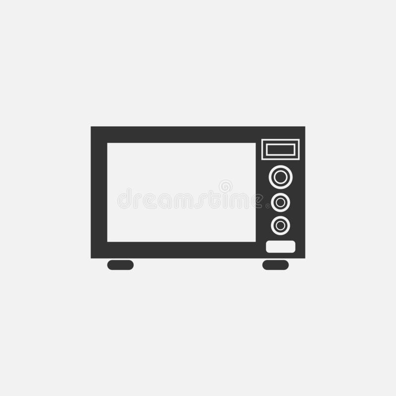 Microwave oven icon, electric appliance, electric equipment stock illustration