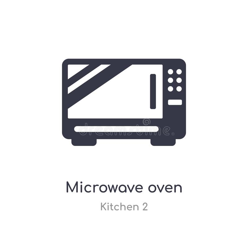 microwave oven icon. isolated microwave oven icon vector illustration from kitchen 2 collection. editable sing symbol can be use stock illustration