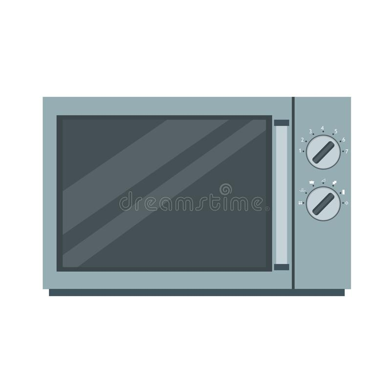 Microwave oven icon vector kitchen illustration food cooking equipment isolated stock illustration