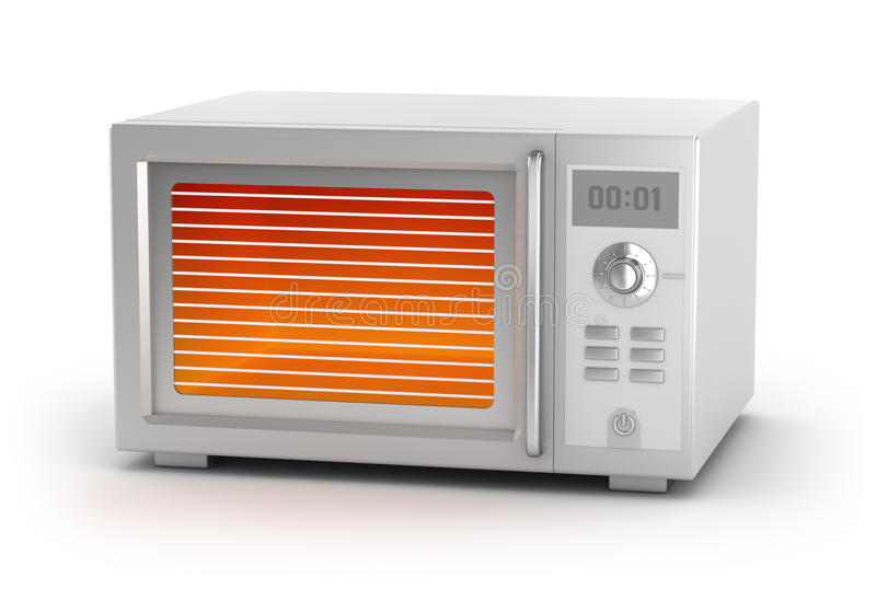 Microwave oven isolated on white royalty free illustration