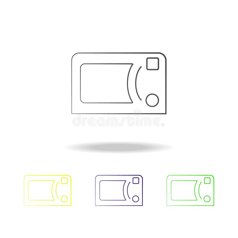 microwave oven multicolored icons. Element of electrical devices multicolored icons. Signs, symbols collection icon can be used fo stock illustration