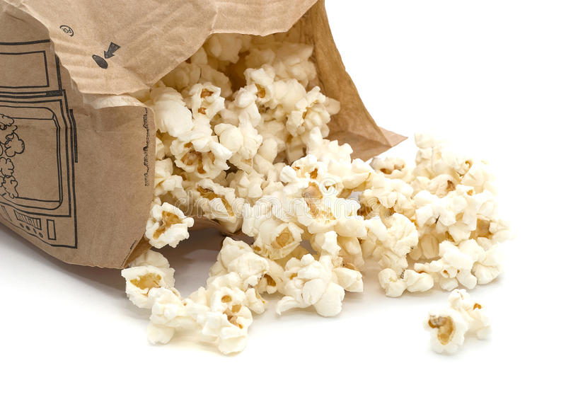 Microwave popcorn stock images