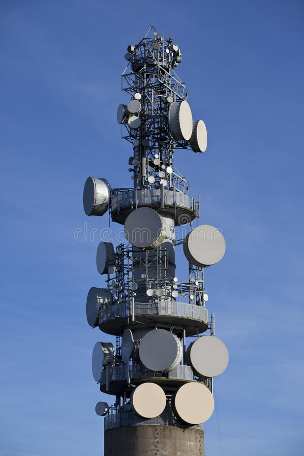 Download Microwave Tower stock image. Image of electronic, steel - 20924543