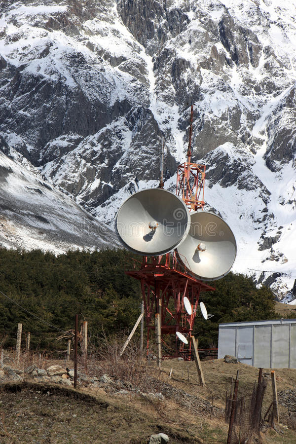 Microwave tower in the Caucasus