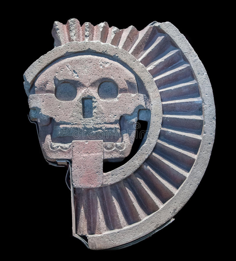 Mictlantecuhtli, an Aztec god of the dead. And king of Mictlan, the lowest level of the underworld royalty free stock image