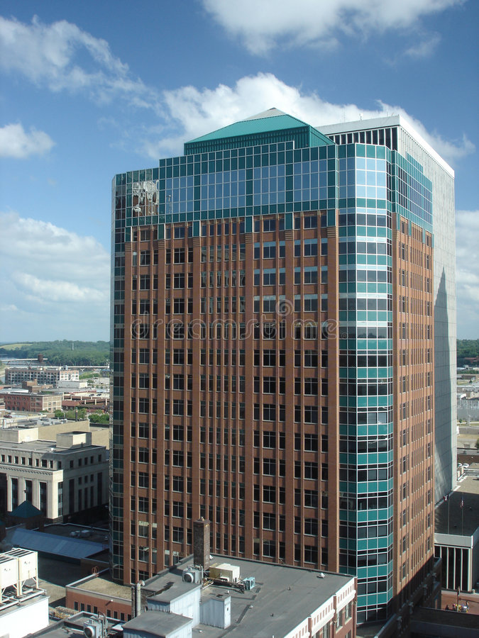 Des Moines mid-20th Century Office Tower, IA royalty free stock images
