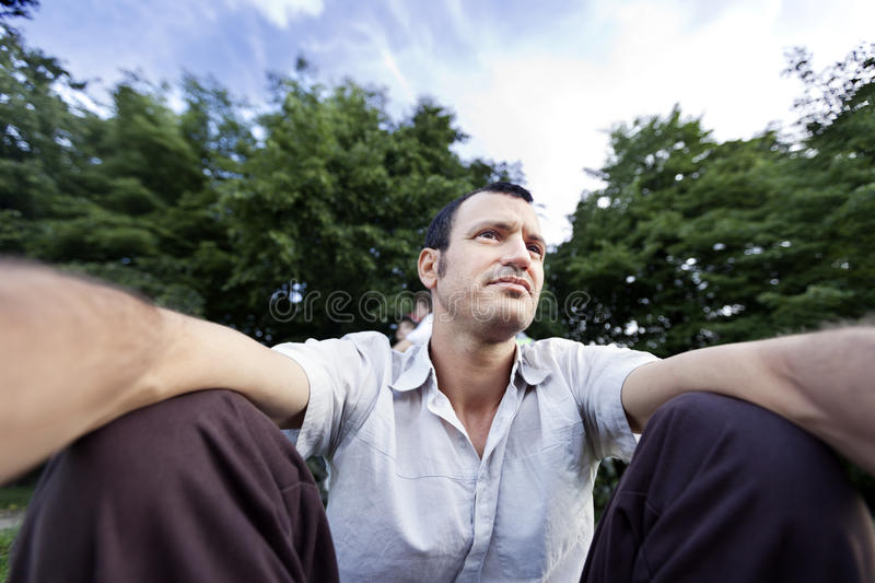 Self Photography At The Park Royalty Free Stock Photography