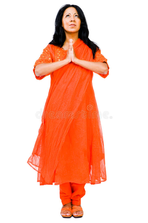 Free Mid Adult Woman Praying Royalty Free Stock Images - 11843799