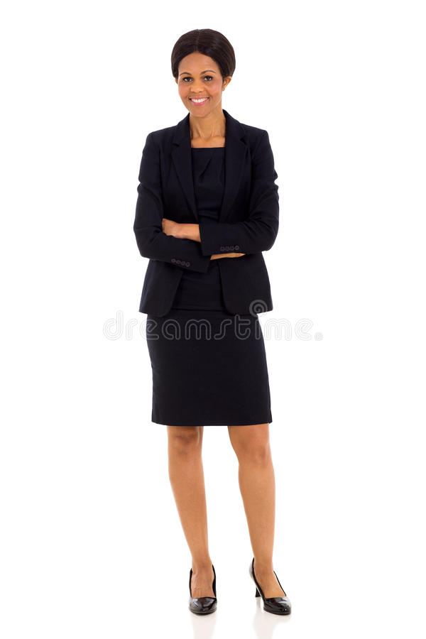 Mid age african businesswoman royalty free stock photos