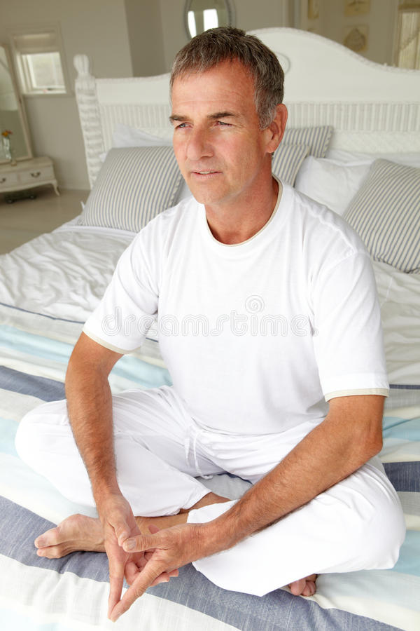 Download Mid Age Man In Lotus Position Stock Photos - Image: 21011693