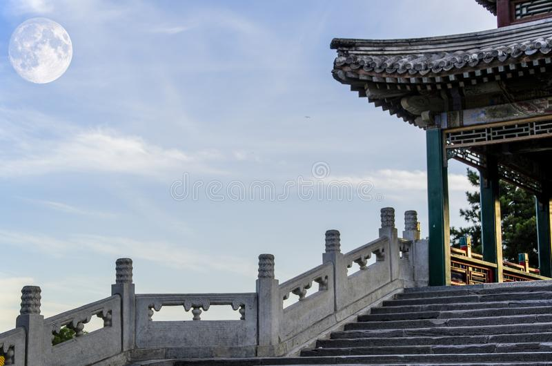 Mid Autumn Festival and ancient architecture of China royalty free stock photo