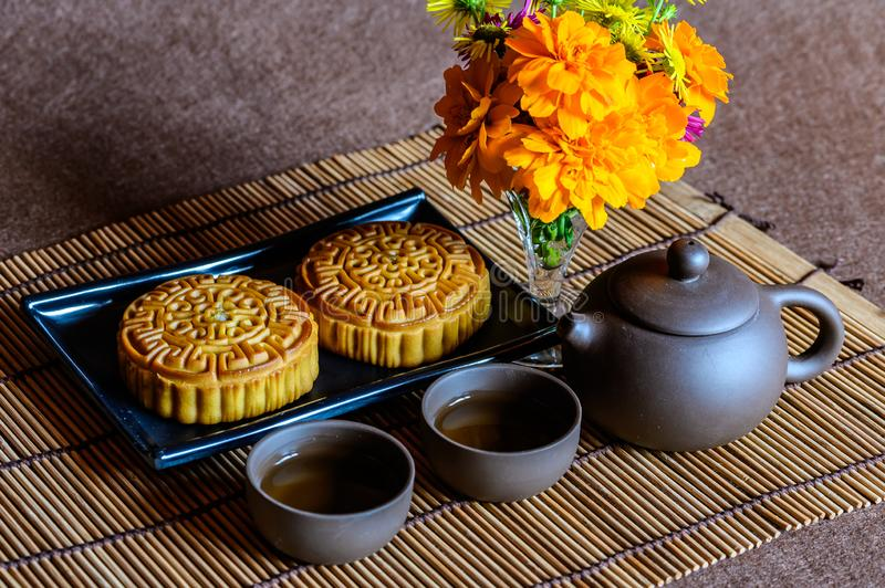 Mid-Autumn Festival and Mooncake. Photographed in Changchun, China stock photos