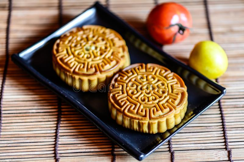 Mid-Autumn Festival and Mooncake. Photographed in Changchun, China royalty free stock images