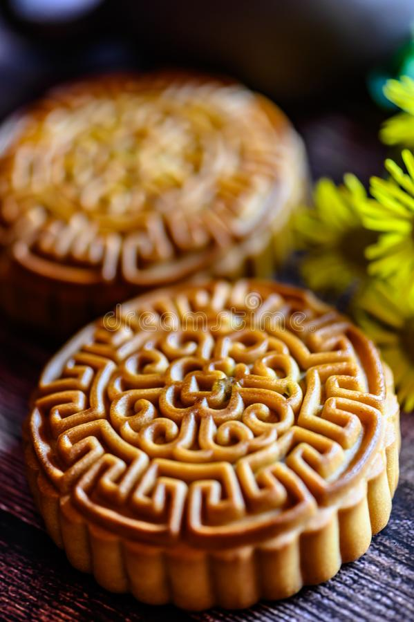 Mid-Autumn Festival and Mooncake. Photographed in Changchun, China royalty free stock photo