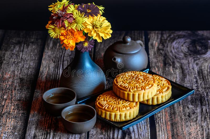 Mid-Autumn Festival and Mooncake. Photographed in Changchun, China stock image