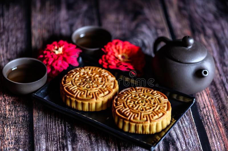 Mid-Autumn Festival and Mooncake. Photographed in Changchun, China royalty free stock photos