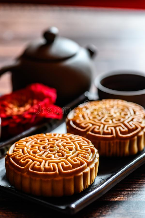 Mid-Autumn Festival and Mooncake. Photographed in Changchun, China stock photography