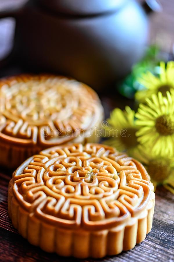 Mid-Autumn Festival and Mooncake. Photographed in Changchun, China royalty free stock image