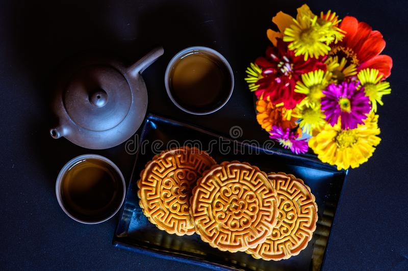 Mid-Autumn Festival and Mooncake. Photographed in Changchun, China stock images