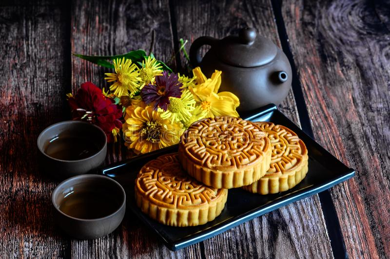 Mid-Autumn Festival and Mooncake. Photographed in Changchun, China royalty free stock photography